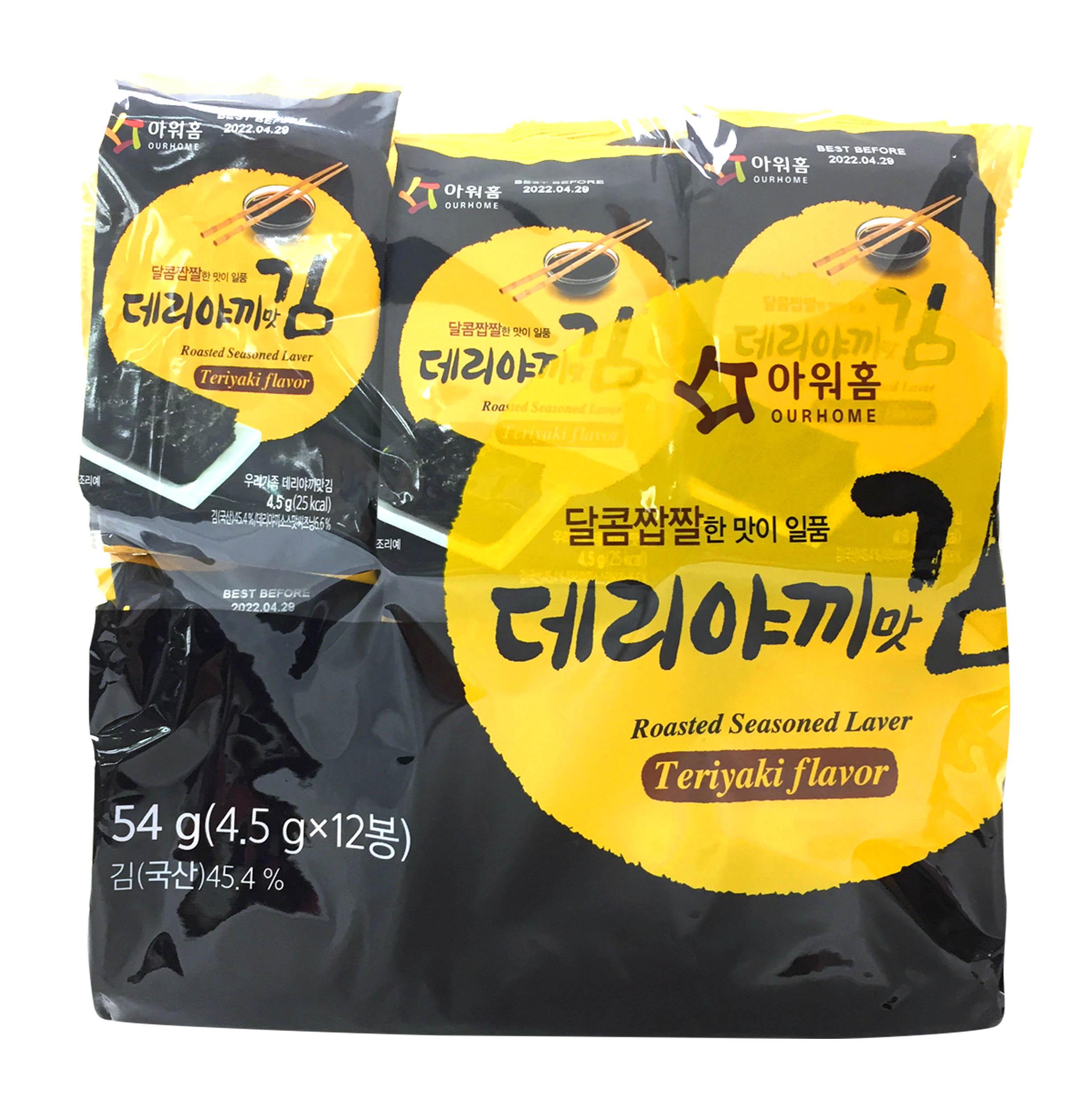傳統海苔 照燒風味 韓味不二 OURHOME 紫菜 韓國進口