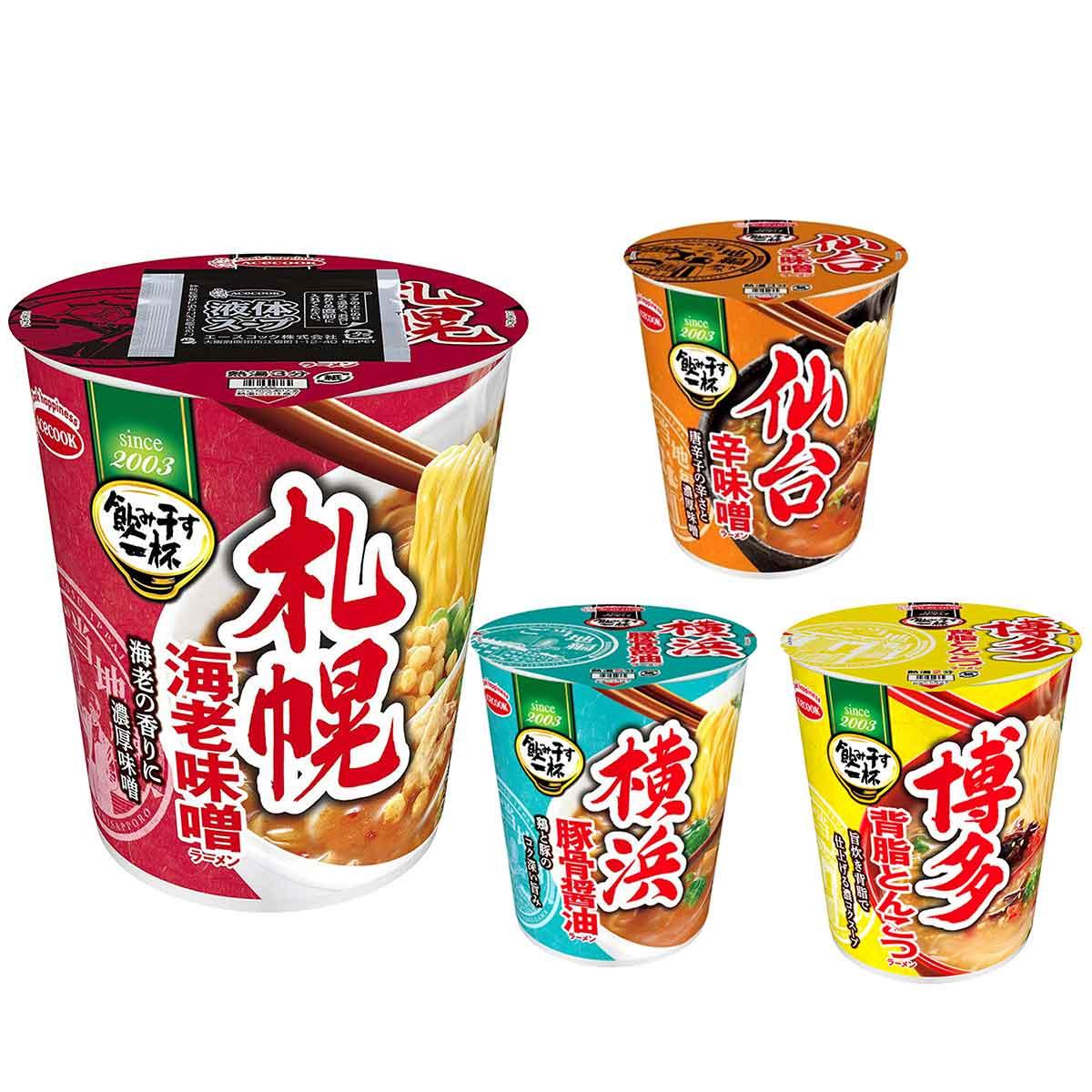 杯麵 博多豚骨 札幌味噌 仙台辛味噌 橫浜醬油 泡麵 日本進口製造