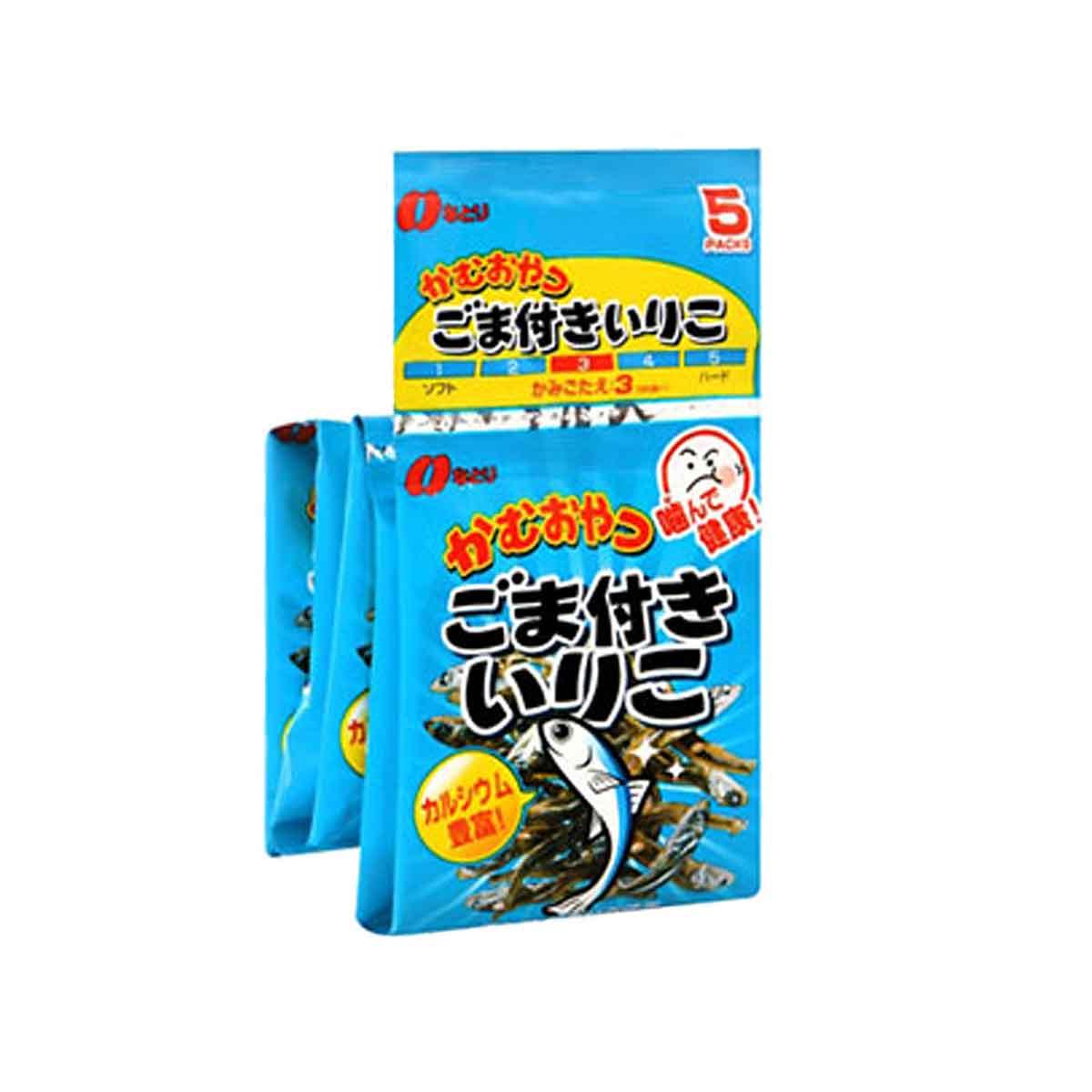 芝麻小魚五連包 日本 20g 點心 小魚乾 日本製造進口