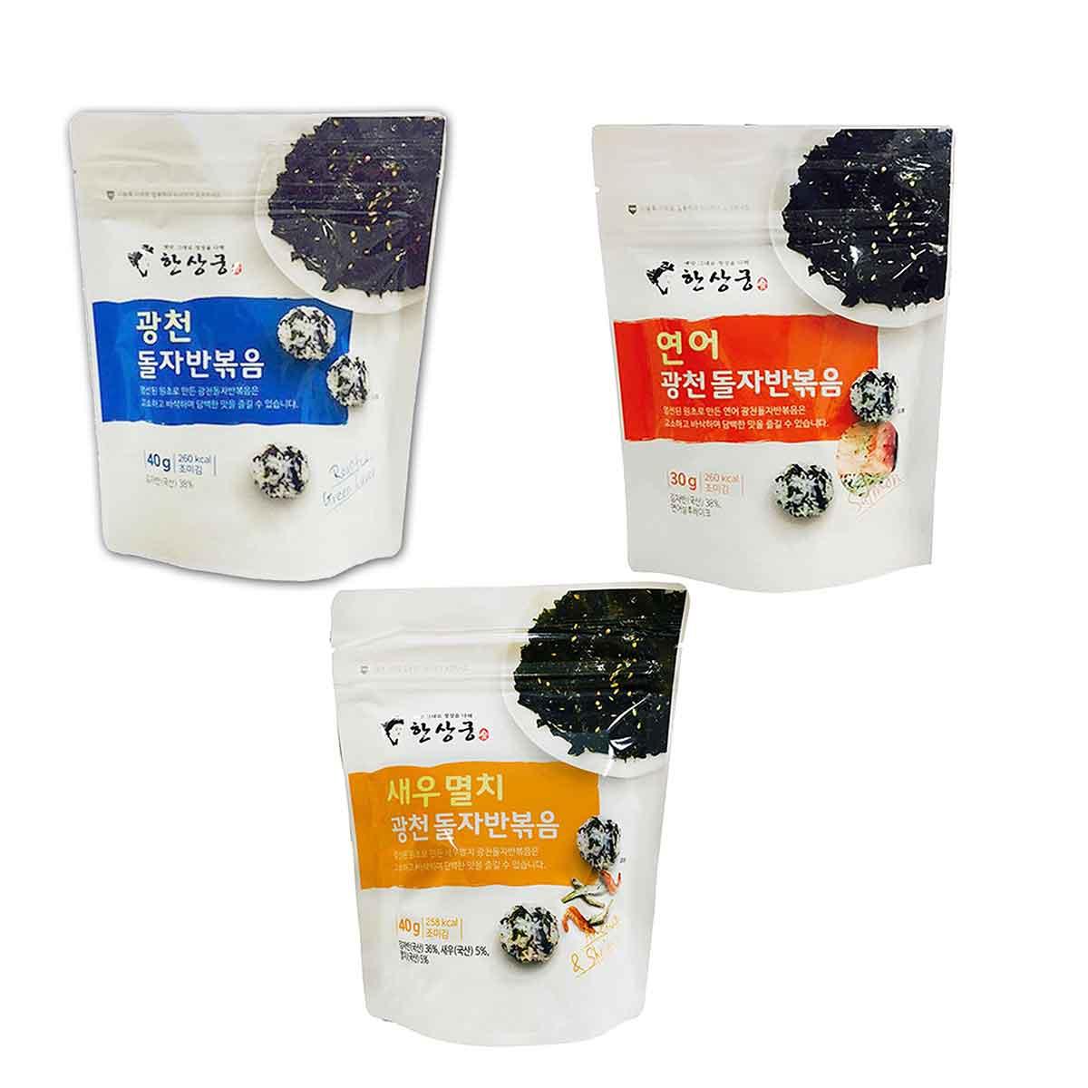韓尚宮 海苔酥 原味 鮭魚 鯷魚蝦子 韓國製造進口