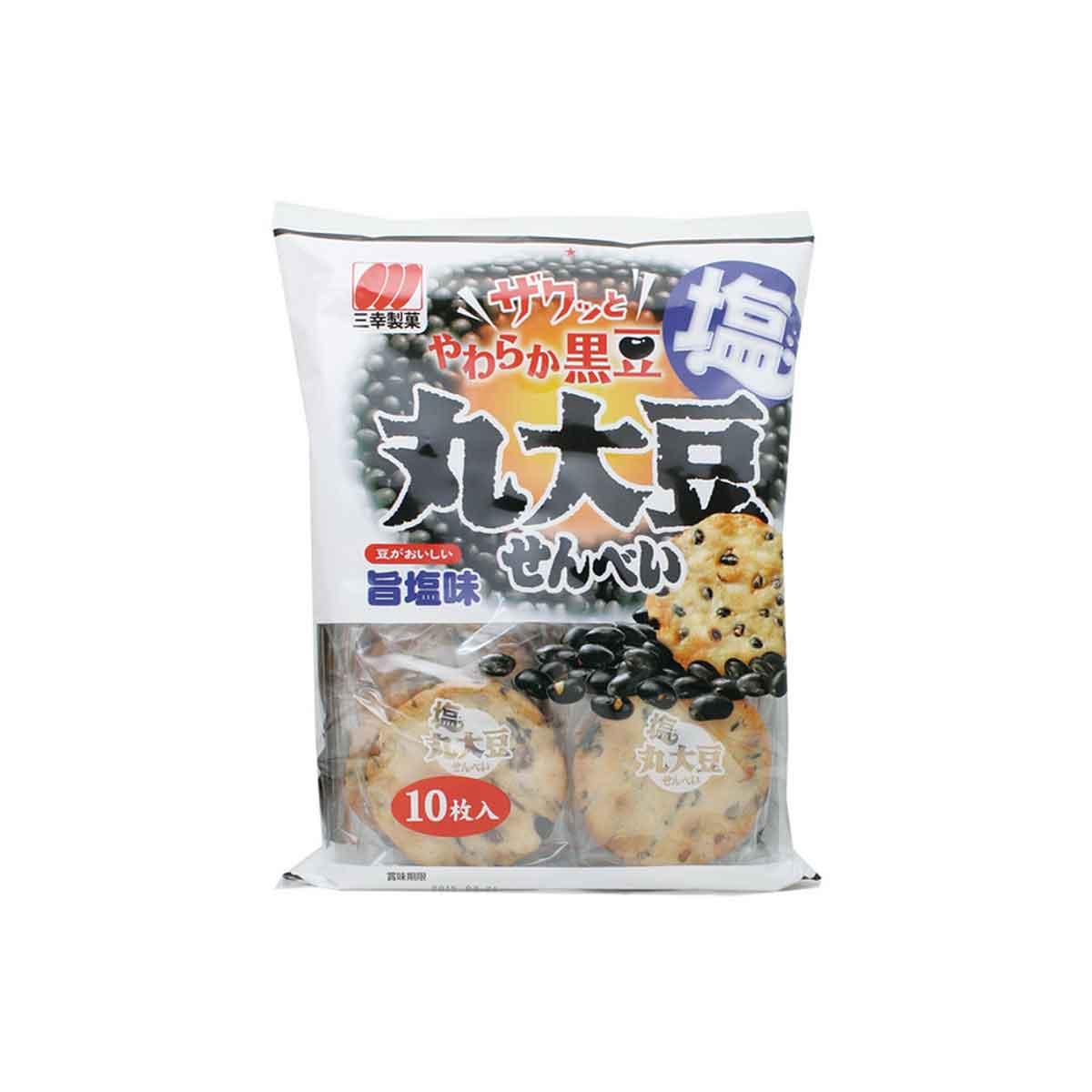 三幸 丸大豆旨鹽仙貝 10枚入 餅乾 日本進口製造