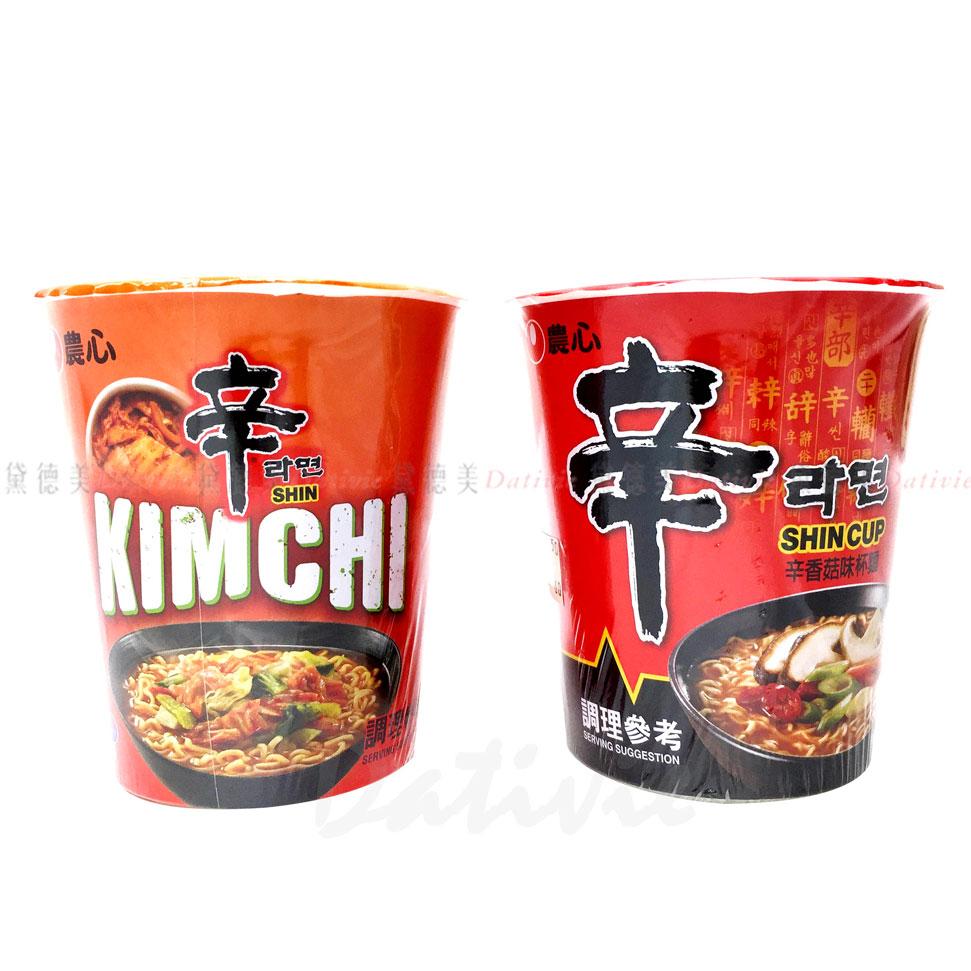 辛拉麵 農心 辛辣白菜風味 辛香菇味 杯麵 韓國進口製造