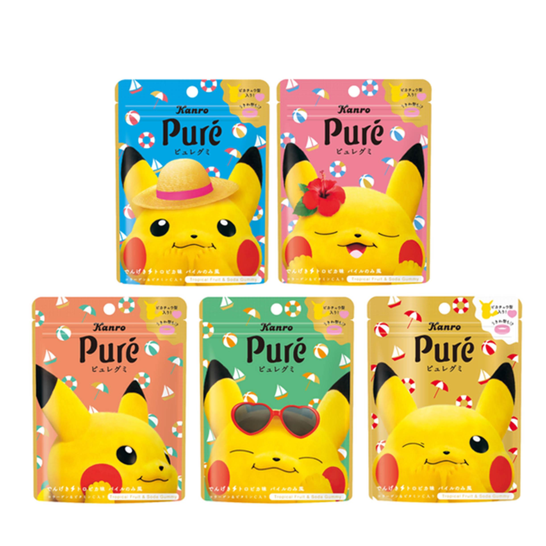 寶可夢 皮卡丘 造型軟糖 鳳梨風味 56g 包裝隨機 日本進口製造