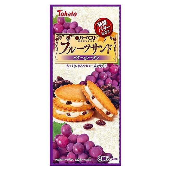 葡萄奶油夾心餅 104g-Tohato 東鳩 餅乾 日本進口製造