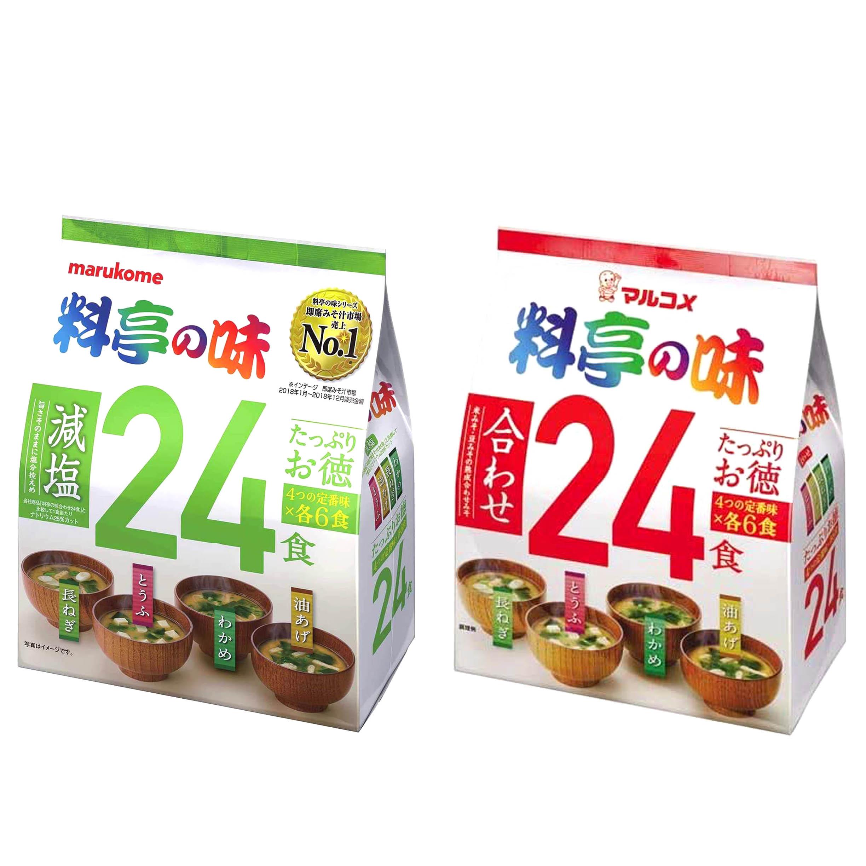 味噌湯 24入-減鹽 一般 MARUKOME 丸米料亭 24食 日本進口製造