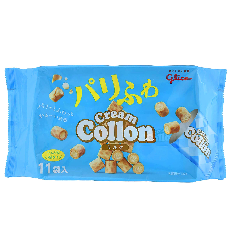 奶油捲心酥 11包-固力果 Glico 點心 日本進口製造