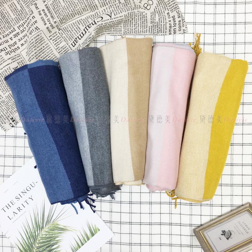 圍巾 雙色 撞色 簡約 流蘇 親膚圍巾 厚圍巾 保暖 五款選