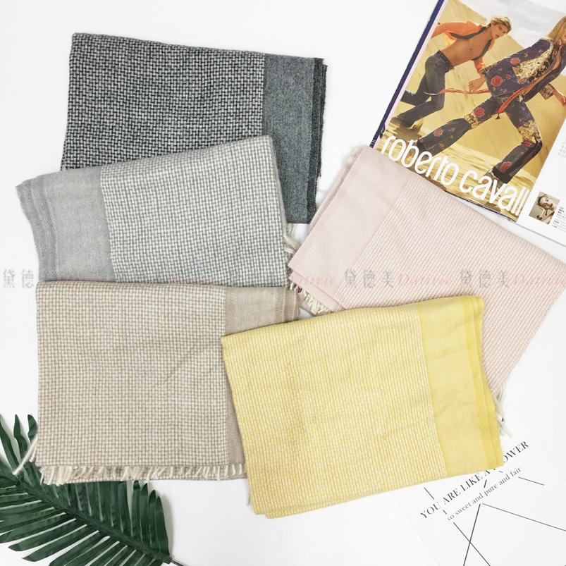 圍巾 薄圍巾 小格紋 線條 流蘇 保暖 五款