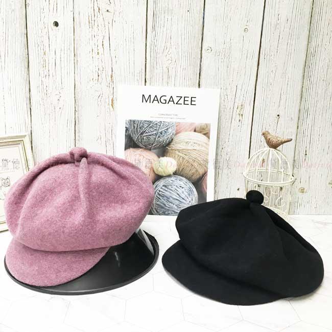 台灣製 純羊毛 保暖 八角 貝蕾帽  秋冬 帽子