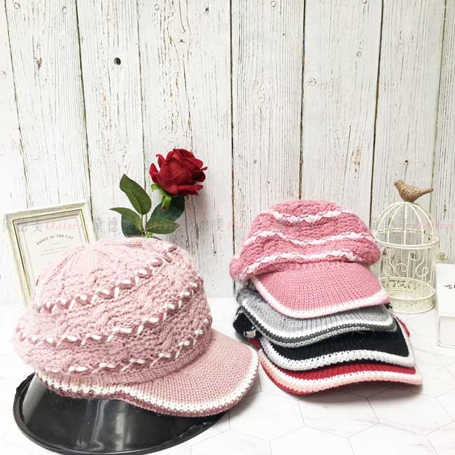 台灣製加絨加厚 保暖 兔毛 羊毛 多色選 貝雷帽 針織 編織 秋冬 帽子