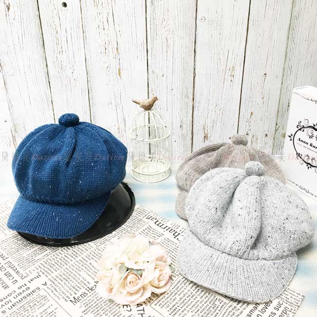 台灣製加絨加厚 保暖 混色 貝雷帽 鴨舌 針織 秋冬 帽子