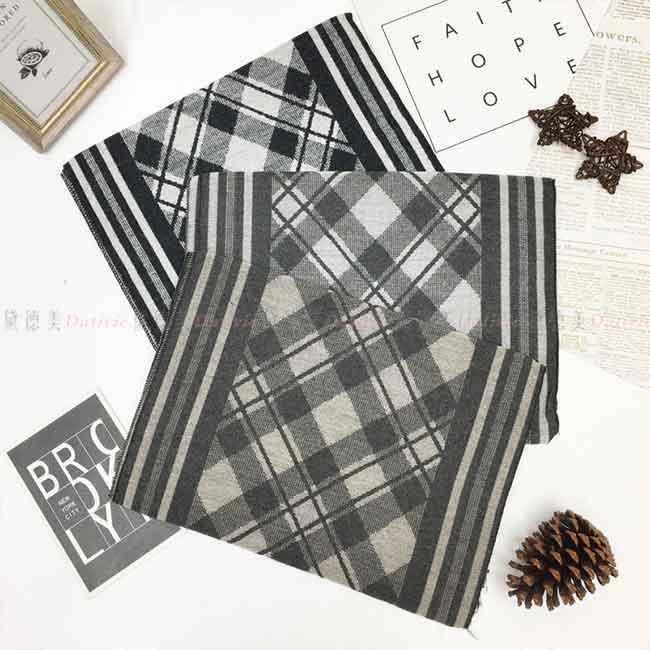 圍巾 秋冬 混搭 經典格紋 線條 保暖圍巾 三款 不收邊 抽鬚