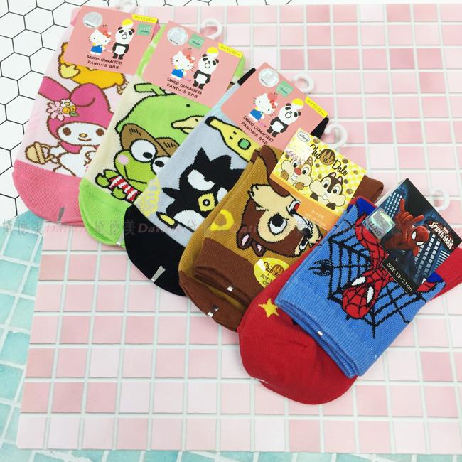 襪子 卡通襪 兒童襪 直版襪 1/2襪 五款 正版授權