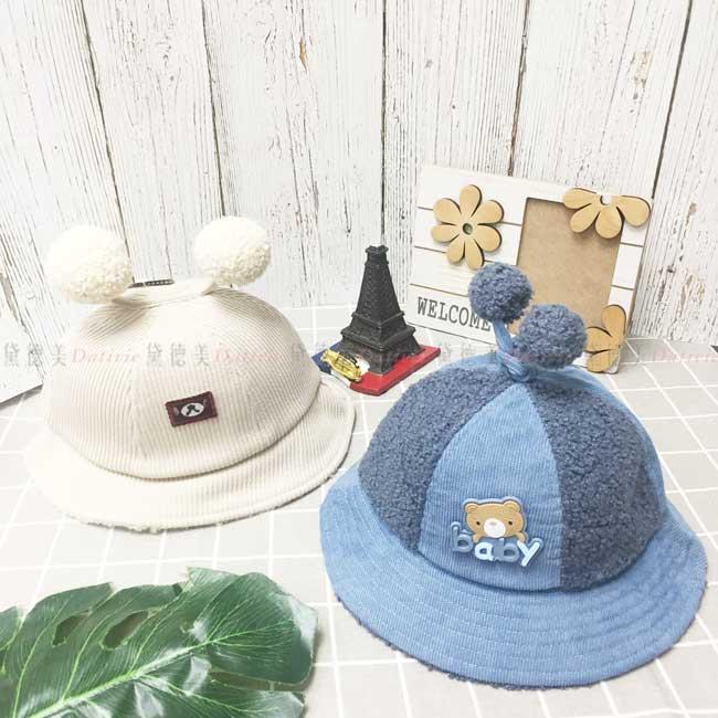 兒童毛帽 針織 小學帽 羔羊圈 小熊 鈴鐺 保暖 2色 帽子