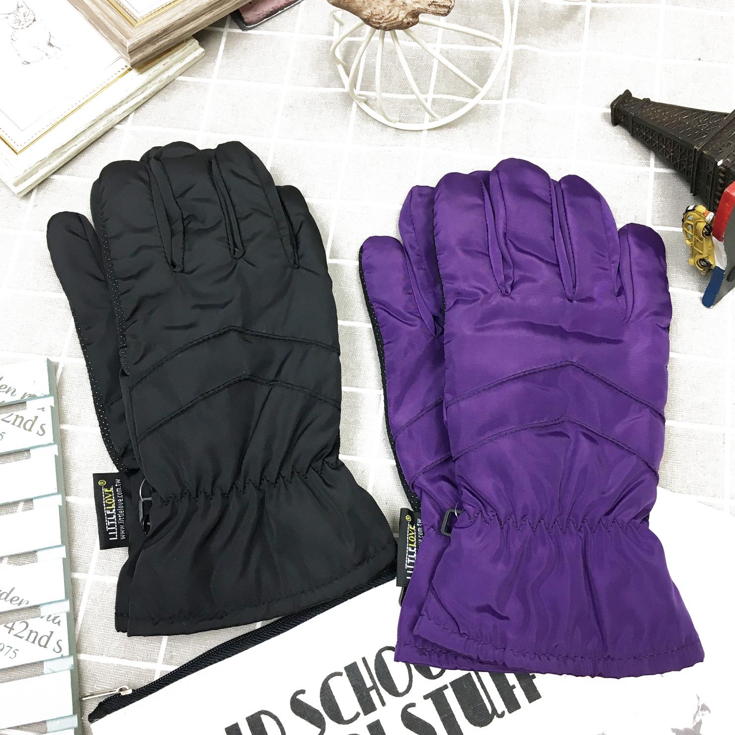 觸控手套 防風 防水 素色素面 內刷毛 保暖 防滑 2色 手套