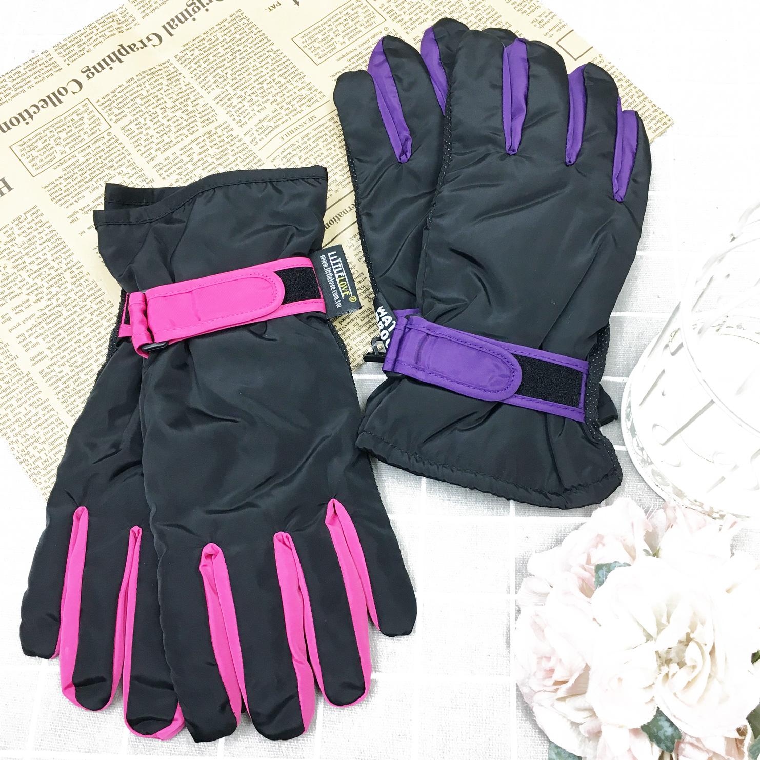 觸控手套 防風 防水 拚色素面 內刷毛 保暖 防滑 2色 手套
