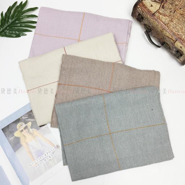 圍巾 細條紋 馬卡龍色 流蘇 針織圍巾 保暖 親膚 四款