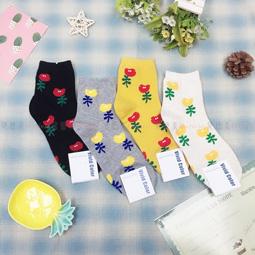襪子 可愛 卡通襪 花 四款 韓國襪