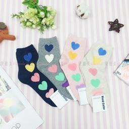 襪子 彩色 愛心 可愛襪 四款 韓國襪
