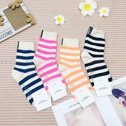 襪子 斑馬 條紋 撞色 造型襪 四款 韓國襪