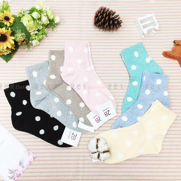 襪子 長襪 圓點 白點點 7款 韓國襪