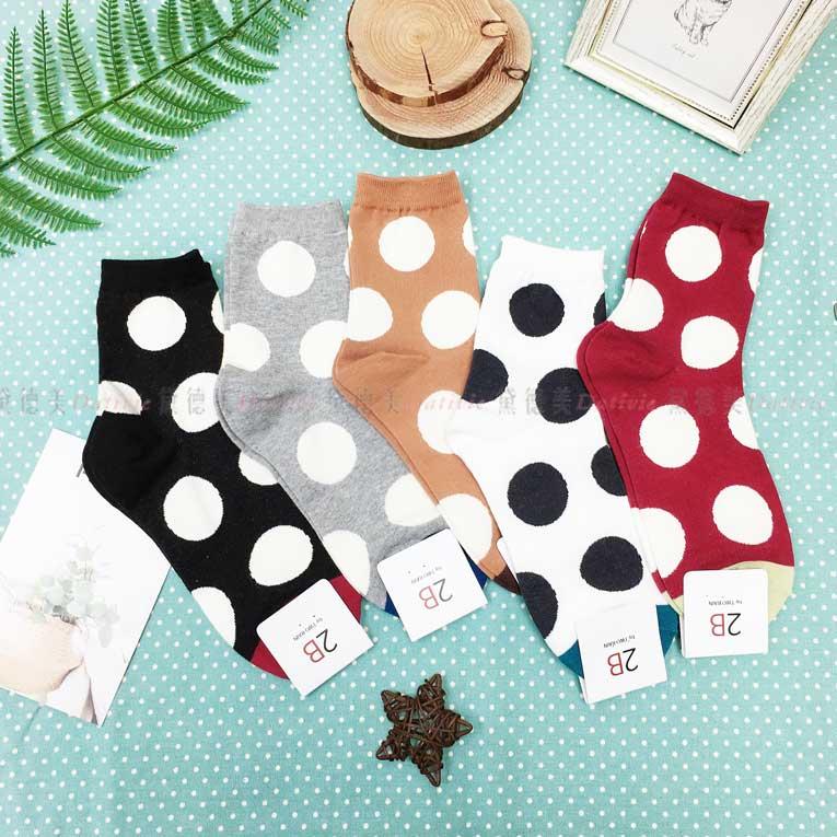 襪子 長襪 點點 大圓點 5色 韓國襪