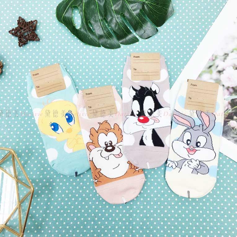 襪子 短襪 直版襪 卡通角色 4款 韓國襪