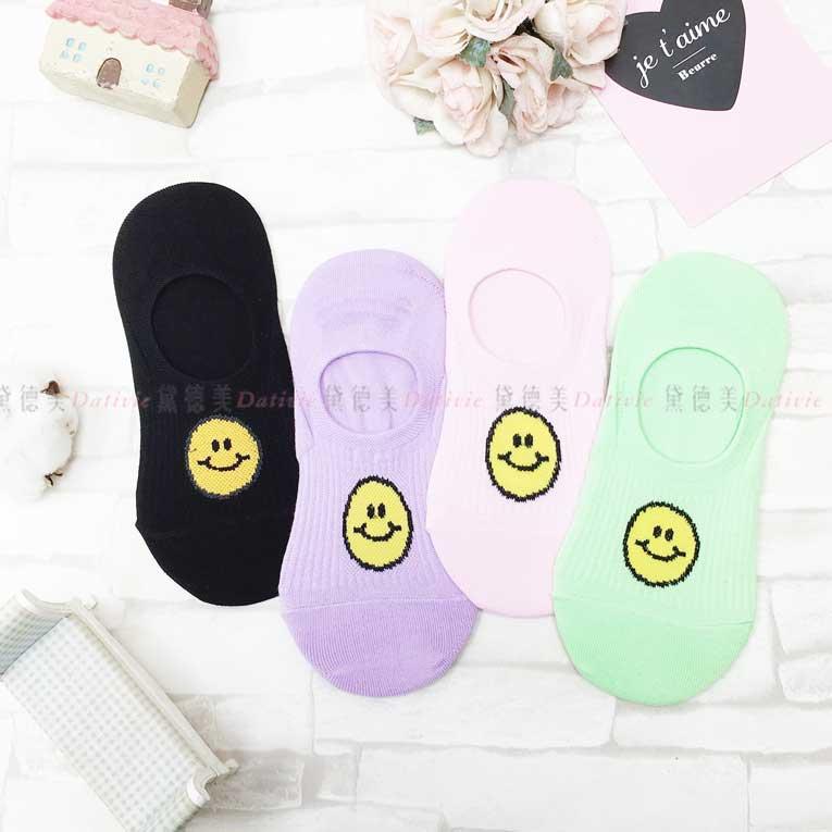 襪子 短襪 隱形襪 黃色笑臉 4色 韓國襪