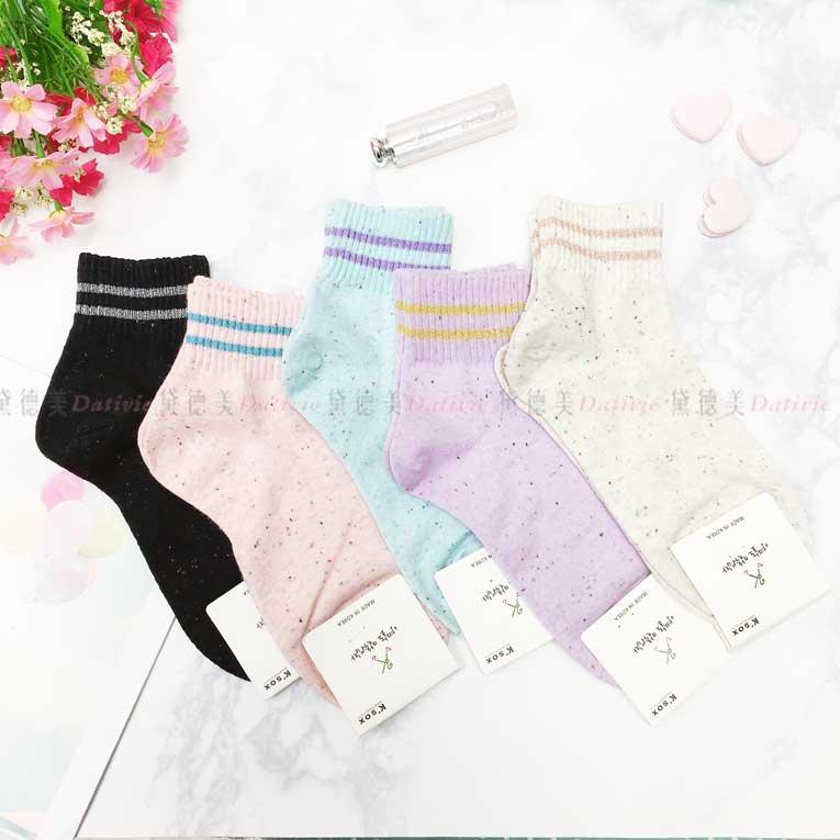 襪子 線條 繽紛點點 百搭 5款 韓國襪