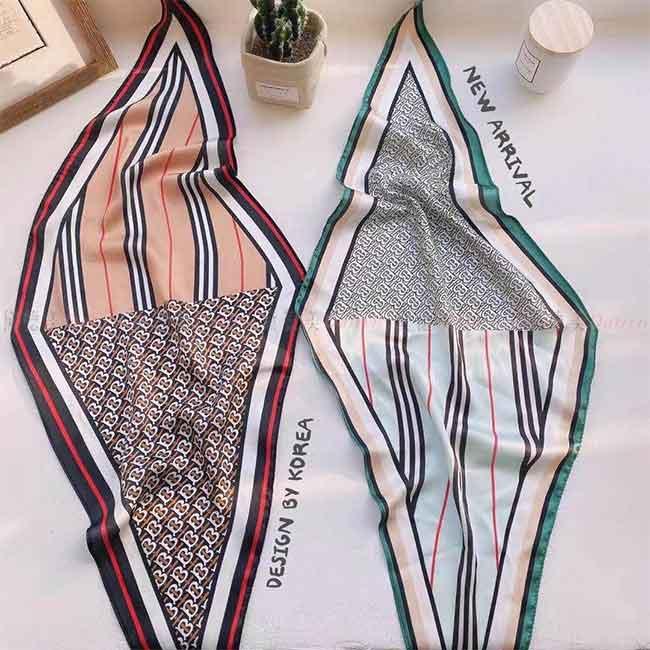 薄圍巾 薄絲巾 條紋 線條 小圖騰 典雅 氣質 親膚 兩款