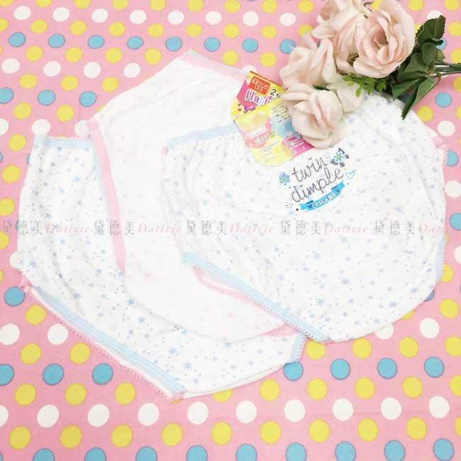 兒童內褲 星星 小花 女童 2入組 110~130cm 兩色 三角褲