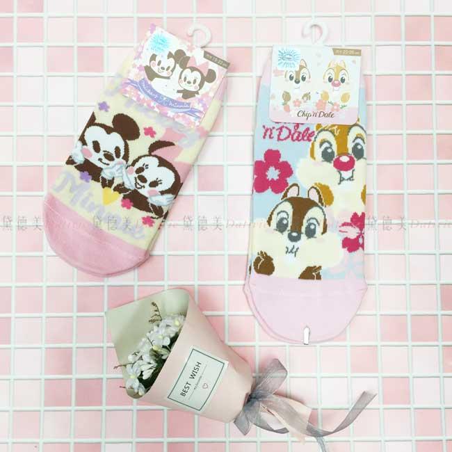 襪子 迪士尼 米奇米妮 奇奇蒂蒂 15~22cm 22~26cm 直版襪