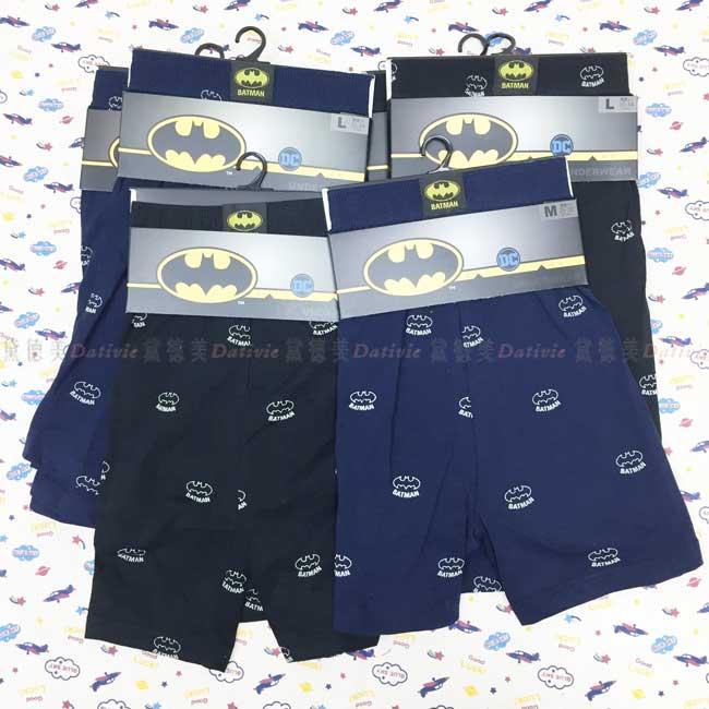 四角褲 蝙蝠俠 BATMAN 黑 藍 2色 M~XL 平口褲