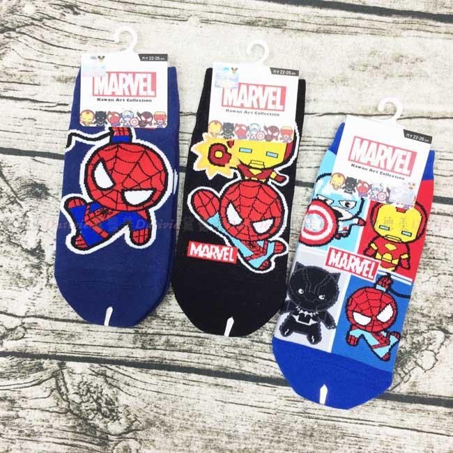 襪子 迪士尼 漫威 蜘蛛人 鋼鐵人 美國隊長 22~26cm 直版襪 正版授權