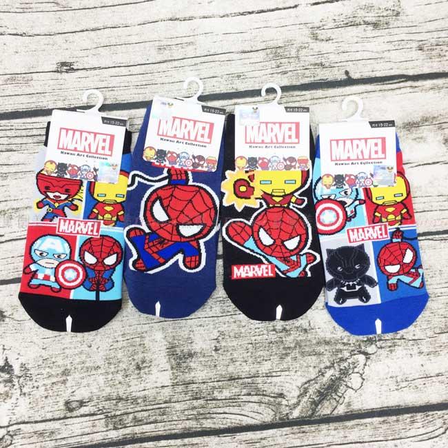 襪子 迪士尼 漫威 蜘蛛人 鋼鐵人 美國隊長 15~22cm 直版襪 正版授權