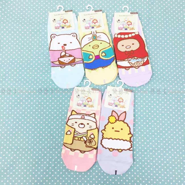 直版襪 SAN-X 角落生物 電影版 白熊 企鵝 豬排 貓咪 炸蝦 共5款 22~26cm 襪子 正版授權