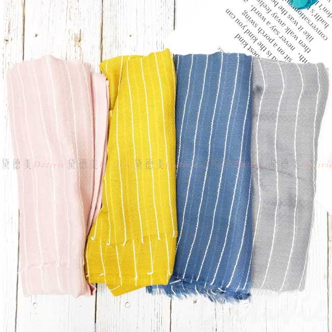 絲圍巾 線條 百搭款 4色 親膚