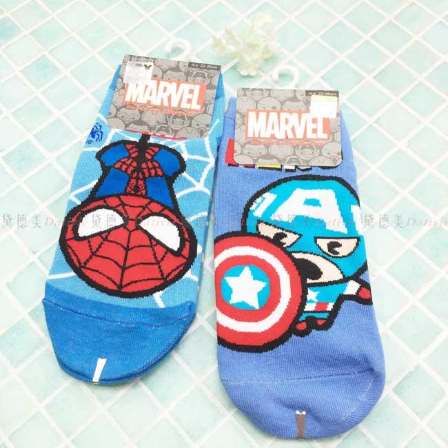 直版襪 迪士尼 漫威 蜘蛛人 美國隊長 22~26cm 襪子 正版授權