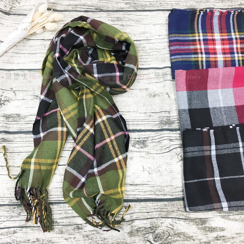 絲巾 薄絲巾 經典 品牌 大格紋 流蘇 保暖 四款