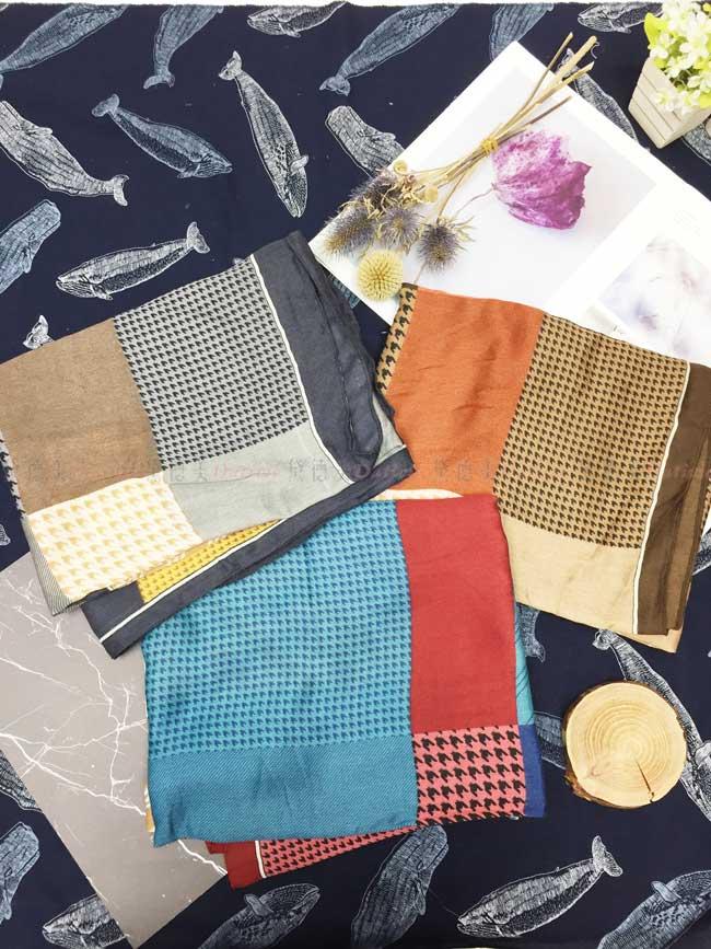 薄圍巾 千鳥紋 3款 絲巾