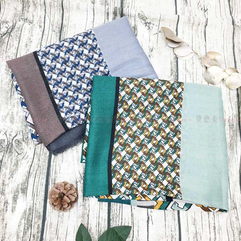 薄圍巾 條紋 二款 絲巾