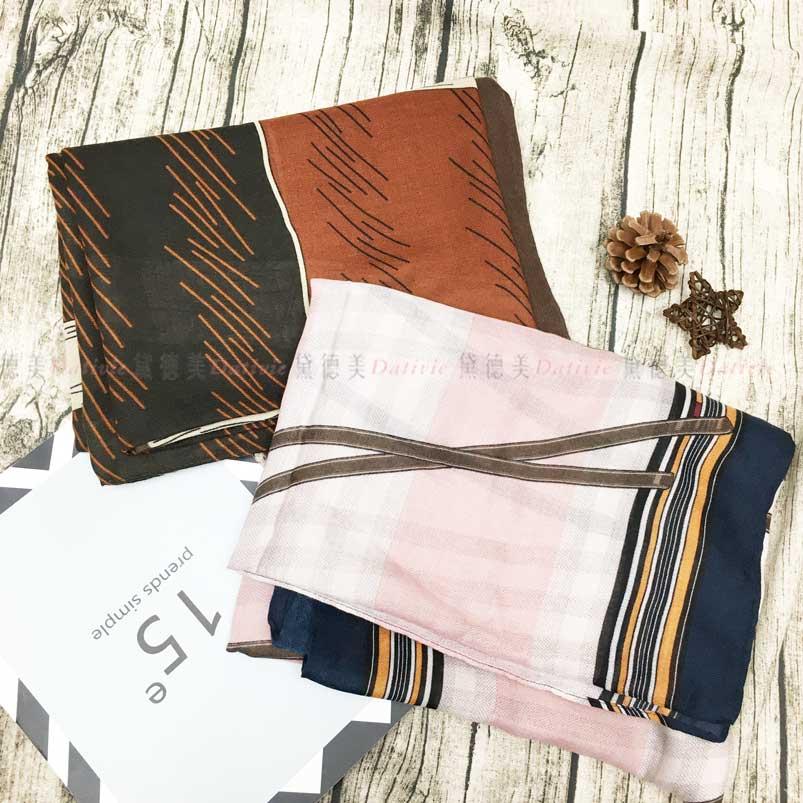 絲巾 皮帶圖騰 二款 薄圍巾