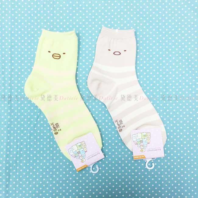襪子 角落生物 卡通襪 豬排 企鵝 二分之一襪 成人襪 正版授權