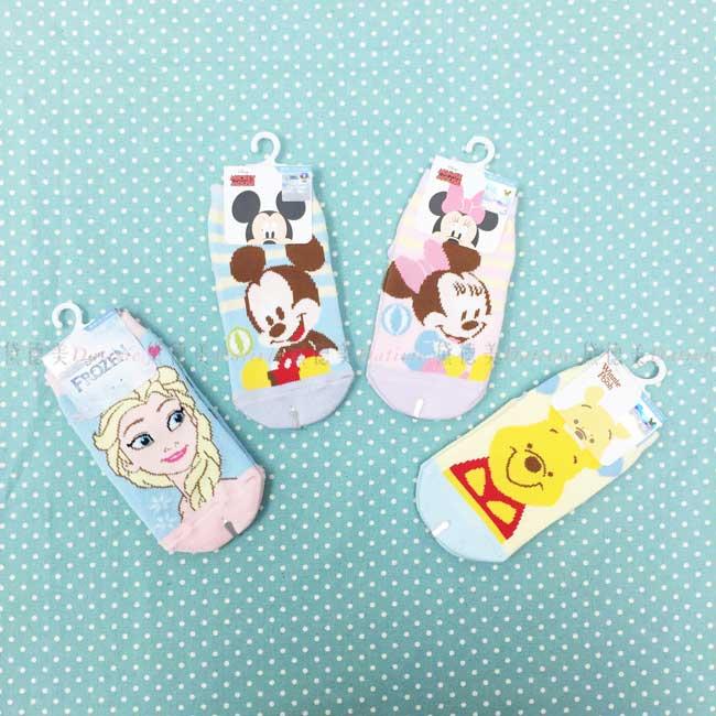 襪子 卡通襪 兒童襪 米奇 米妮 冰雪奇緣 小熊維尼 止滑襪 直版襪 正版授權