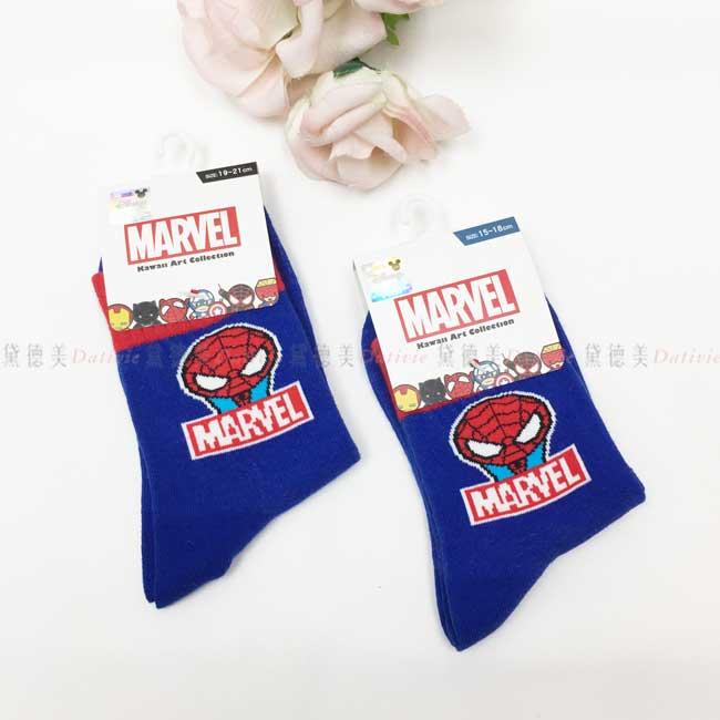 襪子 15-18cm 19-21cm 復仇者聯盟系列 蜘蛛人 漫威 MARVEL 卡通襪 兒童襪 二分之一襪 長襪 正版授權