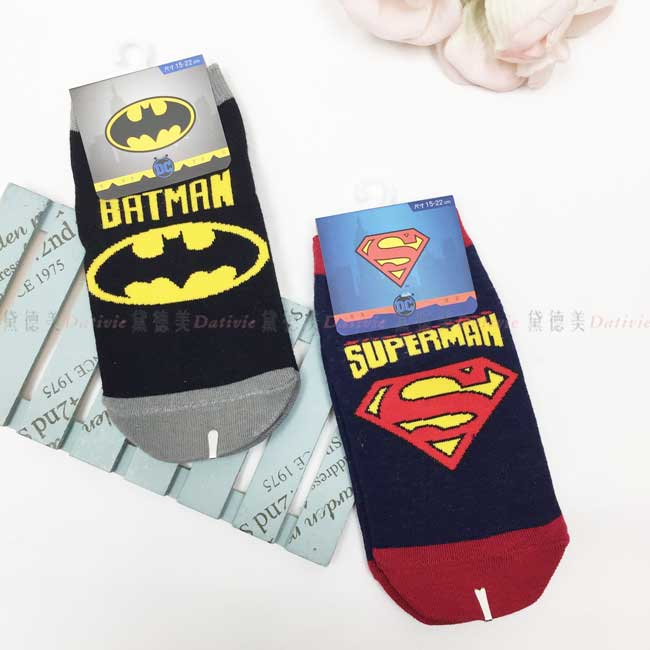 襪子 直版襪 15-22cm 蝙蝠俠 DC超人 卡通襪 兒童襪 正版授權