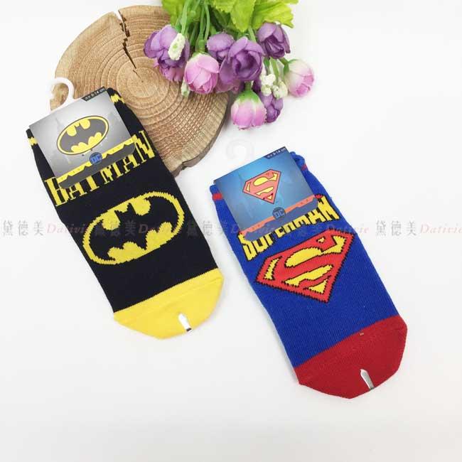 襪子 直版襪 9-14cm DC超人 蝙蝠俠 止滑襪 兒童襪 卡通襪 正版授權