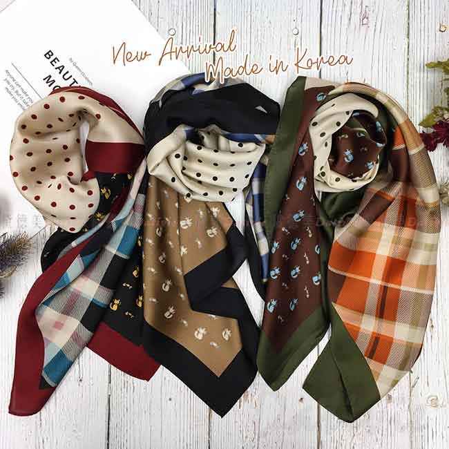絲巾 韓國 方巾 二色 親膚 領巾