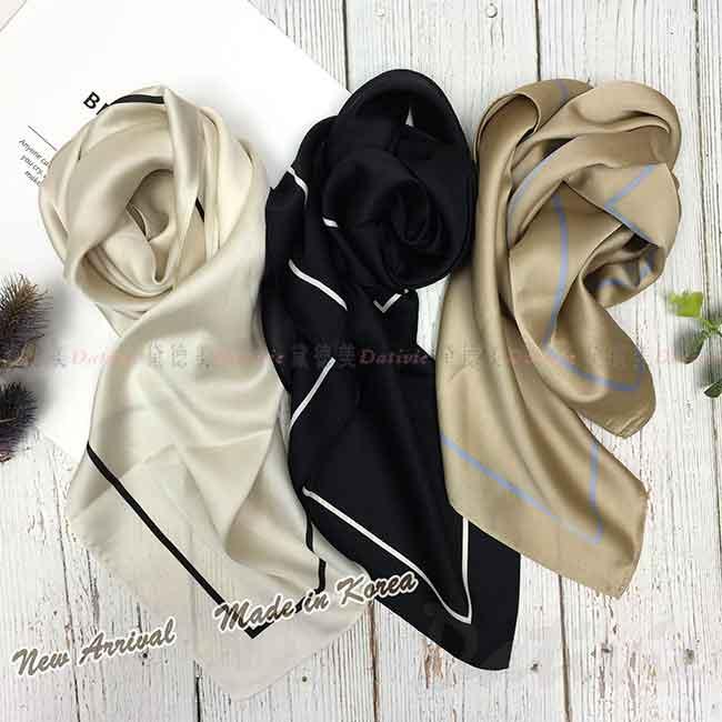 絲巾 韓國 素面方巾 百搭款 三色 領巾
