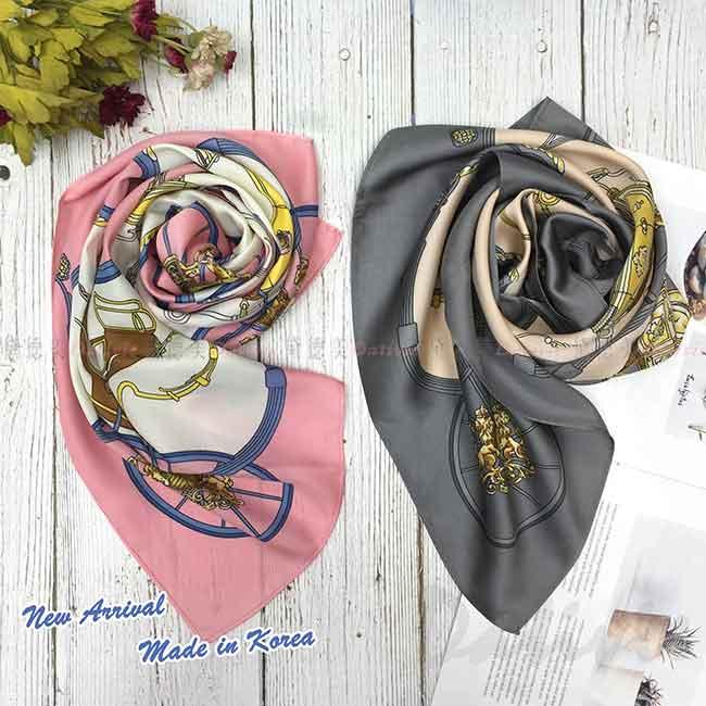 絲巾 韓國 方巾 二色 圖騰 領巾